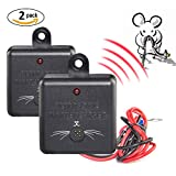 2 × VENSMILE Ultrasonic Control Under Hood Rat Mice Mole Repeller Car ...