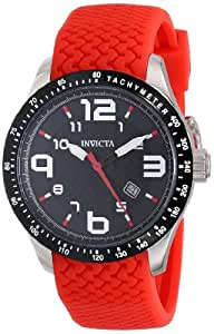 Invicta Men's 16641 BLU Stainless Steel Watch with Red Band