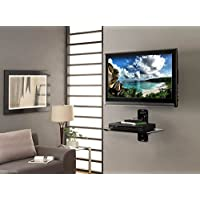 Atlantic Single DVD Component Shelf for Flat Screen TV, Black