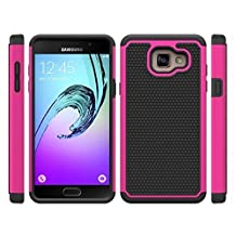 """Galaxy A5 2016 Case, Gefee® Full Body Hybrid Armor Protection Shockproof Defender Case Cover for Samsung Galaxy A5 (2016) 2nd Gen A510F 5.2"""" (Hot pink)"""
