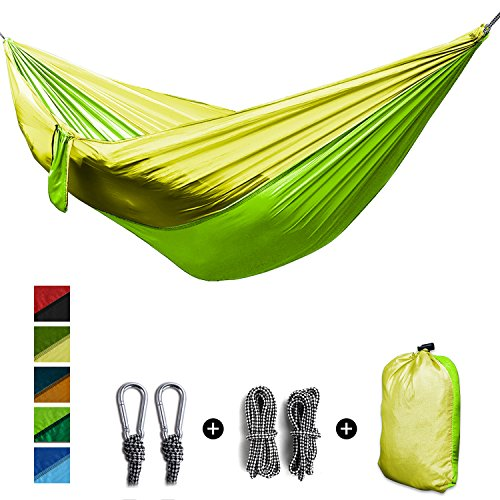 [Amazon Prime Sale]Argus Le Single & Double Camping Hammock-Lightweight,Comfortable, Portable,Parachute Nylon Hammock,Best Gear for Outdoors Backpacking Survival Travel,Holds 660lbs Capacity