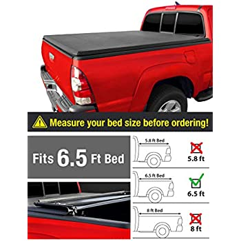 Amazon Com Maxmate Tri Fold Truck Bed Tonneau Cover Works With 2014