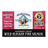 Henry and Lisas Wild Alaskan Pink Salmon, 7.5 Ounce - 12 per case.