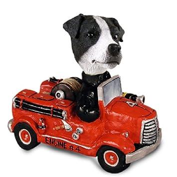 Amazon.com: Jack Russell Terrier negro y blanco w/suave ...