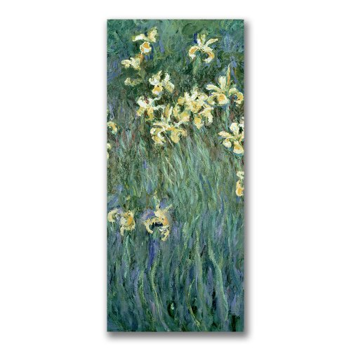 The Yellow Irises by Claude Monet, 18x32-Inch Canvas Wall Art ()