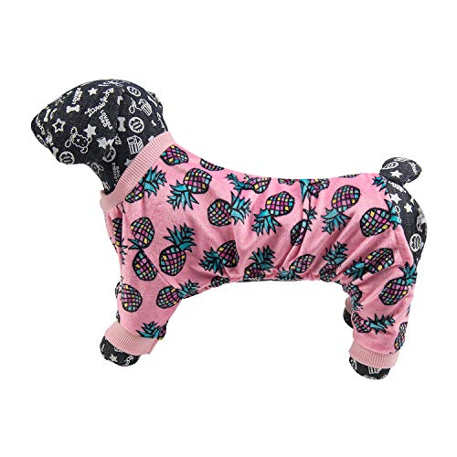 Image of CuteBone Dog Pajamas Flamingo/Pink Pig Dog Apparel Dog Jumpsuit Pet Clothes Pajamas Puppy Clothes P51L