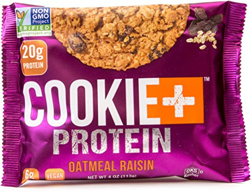 Bake City Cookie Plus Protein | Protein Cookies, 20g Protein, Non GMO, Vegan, Plant Based, Kosher, No Artificial Flavors (Oatmeal Raisin, 12 Cookies) (Oatmeal Body Cookie)