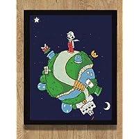 Quadro 70x50 Super Mario Poster Com Moldura Decoração Snes