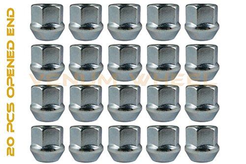 Qty 20 Nut - 12x1.5 Open End Lug Nuts Bulge Acorn QTY-20 Pcs M12x1.5