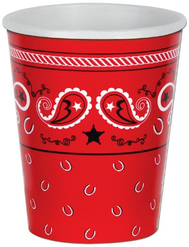 Beistle Bandana Cup, 9 oz. Cups, 8 Count ()