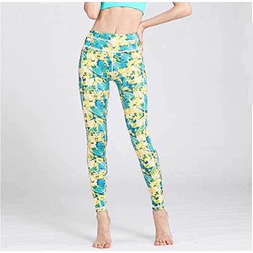 Erica Pantalon de sport imprimé pour femme Yoga Leggings Collants Entraînement Running Pantalon High-Elastic