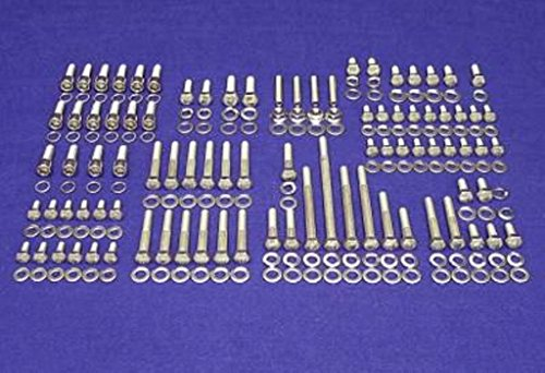 (ALLOYBOLTZ - FORD SBF 260 289 302 STAINLESS STEEL ENGINE HEX BOLT KIT FOR DRIVERS SIDE PUMP INLET TYPE ONLY)