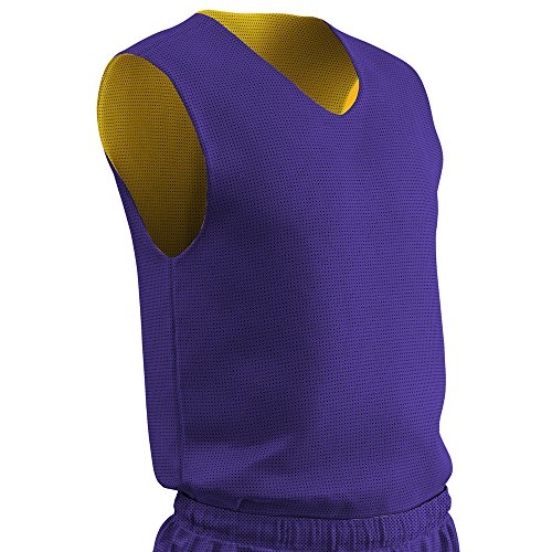 Champro Polyester Reversible Basketball Jersey - Adult Purple, Gold Adult XL BBJP BBJPAPUGOXL