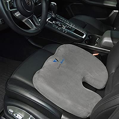 Vaunn Medical Firm Coccyx Seat Cushion Pillow for Tailbone and Sciatica Pain Management