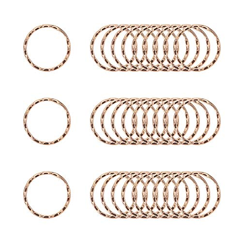 PandaHall Elite 150 pcs 25mm Round Edged Iron Split Key Ring Circular Keychain Ring Chain Clip Connector for Car Home Keys DIY Art Craft Project, Golden