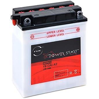 NX - Batería moto YB12AL-A / YB12AL-A2 12V 12Ah: Amazon.es: Juguetes y juegos
