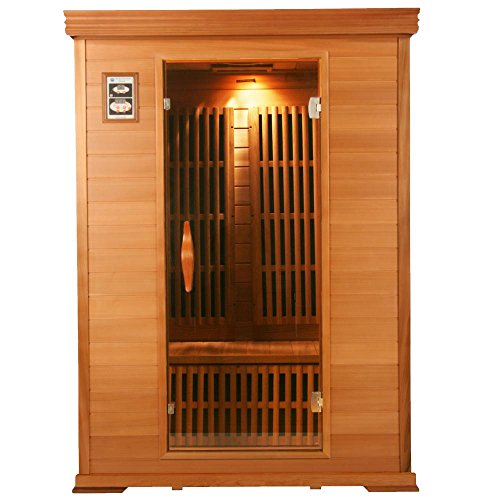 Hemlock Sauna (Rocky Mountain Saunas Colorado Hemlock 1-2 Person Far Infrared Home Sauna with 8 Zero Rated EMF Carbon Panels and Unlimited Lifetime Warranty)
