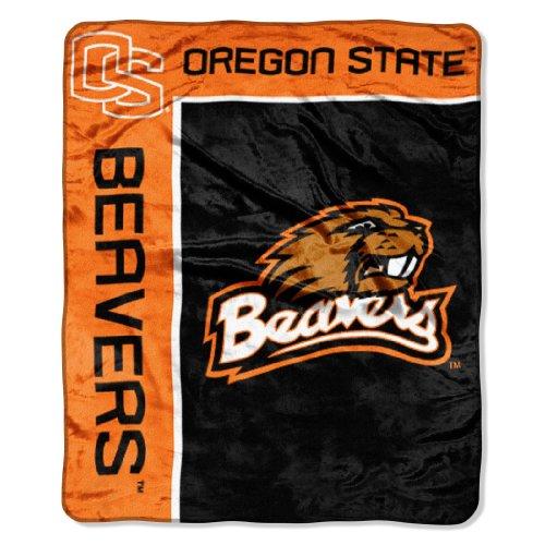 The Northwest Company Officially Licensed NCAA Oregon State Beavers School Spirit Plush Raschel Throw Blanket, 50