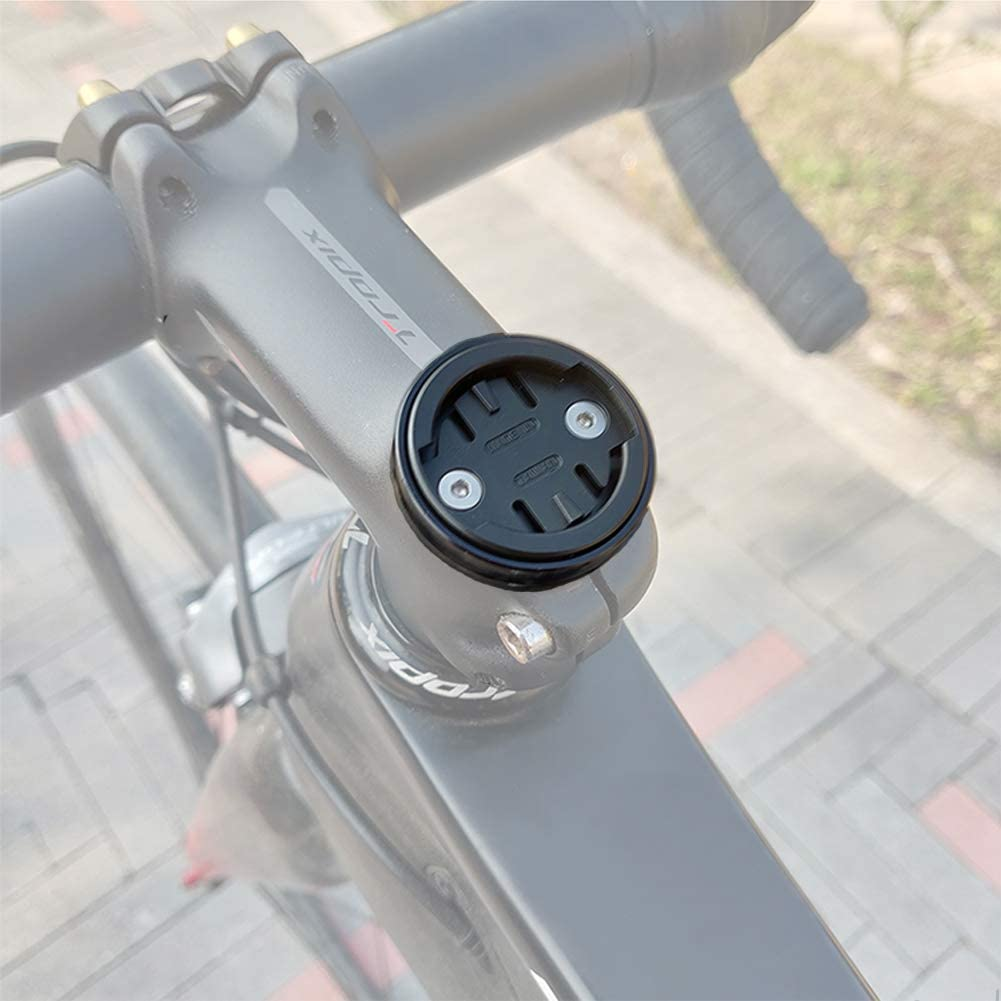 Thinvik Bicycle Stem Headset Top Cap Mount for Wahoo Mini Wahoo Elemnt & Elemnt Bolt,Elemnt Roam GPS Bike Computer - CNC Aluminum Alloy