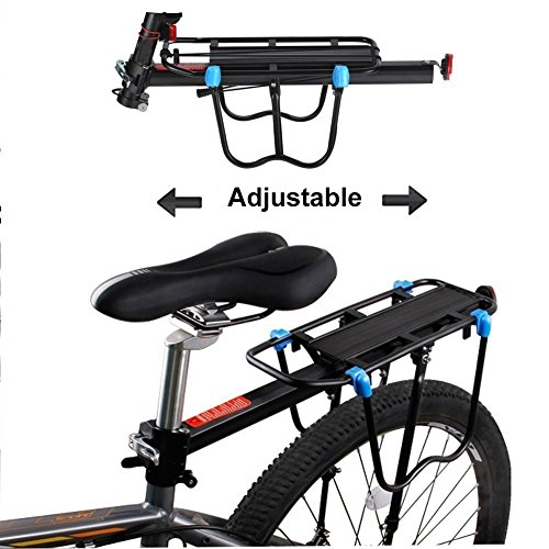 Bicycle Cargo Rack, Universal Adjustable Bike Carrier Rack Quick Release Luggage Cargo Rack Load 110 Lbs Bicycle Pannier Accessories with Reflector for 24''-29'' Frames by Calar (Image #2)