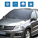 """Car Windshield Snow Cover - Maxesla Magnetic Windshield Cover for Winter Snow / Ice / Rain Resistant Dustproof, Auto Sun Shade Protector with Windproof Straps & Magnets, Outdoor Automotive Hood Covers for All Vehicles, Universal Size 70""""x 54"""""""