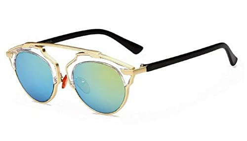 d4c4203a9ba9 GAMT New Fashion Cateye Polarized Sunglasses for Women Classic Style (Gold  Green)