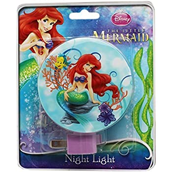 Amazon Com Blue Little Mermaid Ariel Plug In Night Light
