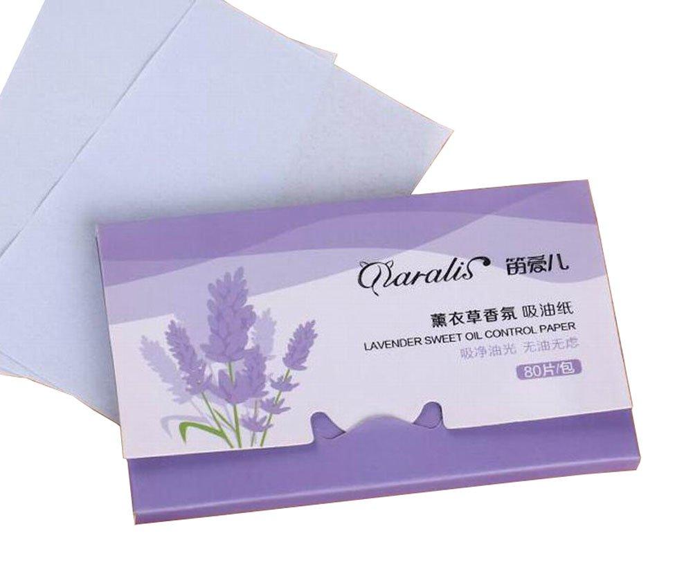 [Lavender] 3 Sets Unisex Facial Oil Blotting Papers Oil Control Papers #01