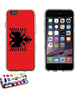 Carcasa Flexible Ultra-Slim APPLE IPHONE 6 4.7 POUCES  de exclusivo motivo [Albania Bandera] [Gris] de MUZZANO  + ESTILETE y PAÑO MUZZANO REGALADOS - La Protección Antigolpes ULTIMA, ELEGANTE Y DURADERA para su APPLE IPHONE 6 4.7 POUCES