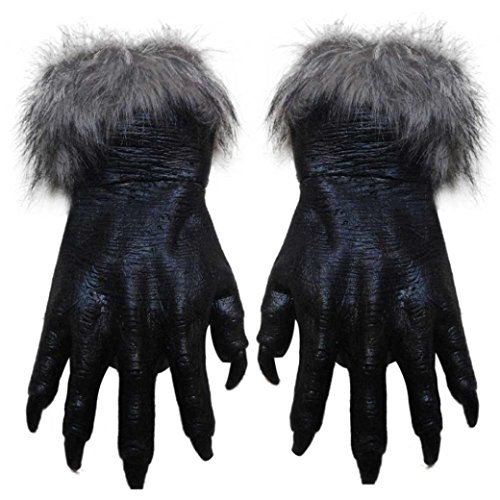 Siavicky Classic Halloween Werewolf Wolf Paws Claws Cosplay Gloves Creepy Horror Devil Costume Party -
