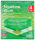 Rite Aid Nicotine Gum, Cool Mint Flavor, 4 mg - 100