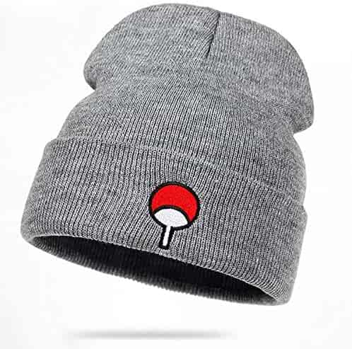 2e8925947cf Anime Lovers Naruto Beanie Uchiha Family Logo Cotton Embroidery Hat Knitted  Hat Hip Hop Cap