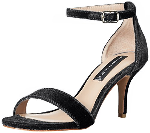 STEVEN by Steve Madden Women's Viienna Dress Sandal, Black Velvet, 8.5 M US