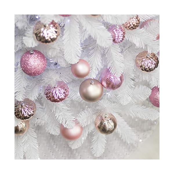 Busybee Unbekannt Palline di Natale 34 Pezzi 6 cm Rosa Cipria Palline Natalizie Ornamento di Palla di Natale per la Decorazione dell'albero di Natale 6 spesavip