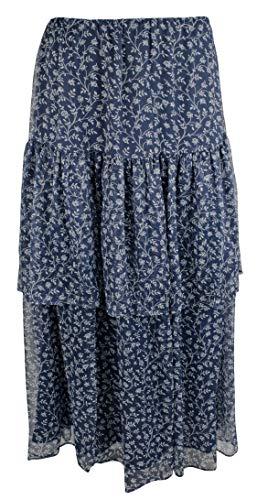 LAUREN RALPH LAUREN Women's Floral-Print Georgette Skirt-VB-L Vintage Blue - Ralph Print Lauren Skirt