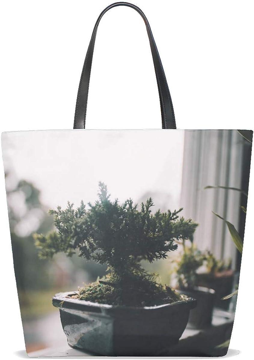 Houseplant Pot Window Tote Bag Purse Handbag For Women Girls