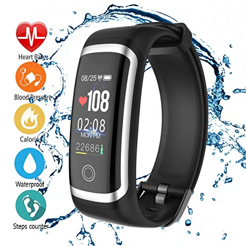 AIBODINI Fitness Tracker, Activity Tracker with Heart Rate Tracking Sleep Monitor Pedometer Smart Bracelet Bluetooth IP67 Waterproof Color Screen for Adult Kids iOS Android Phone