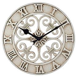 La Crosse Technology BBB86491 Cast Iron Indoor/Outdoor Wall Clock, 14