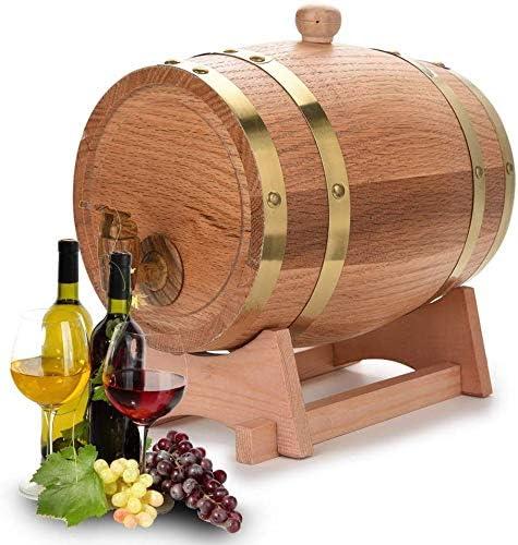 Eichenfass 3L Holzfass weinfass Whiskyfass Weinspender zur Aufbewahrung von Whiskey Bourbon Tequila Anzug für Zuhause Bar Party und Bankett