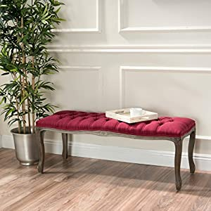 Great Deal Furniture Tassette Tufted French Style Ottoman Bench