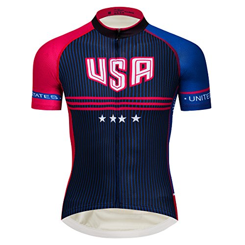 Lo.gas USA Flag Cycling Jersey American Men s Short Sleeve Biking Jersey  with Stars . Tap to expand 562235356