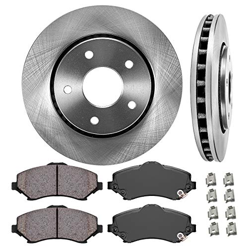 302 Mm Front Disc - FRONT 302 mm Premium OE 5 Lug [2] Brake Disc Rotors + [4] Ceramic Brake Pads + Clips