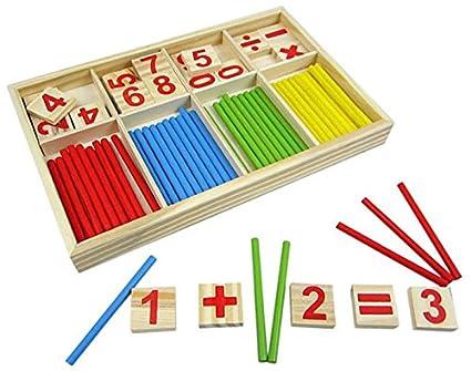 Bebé Número Bloques De Construcción 52pcs Madera Educativos Matemáticos Leisial™ Niños Juguetes Juegos Palos Regalo Para JulF5K1cT3