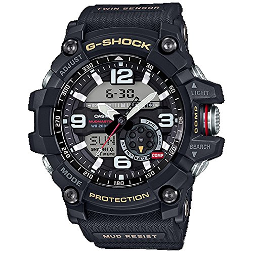 Men's Casio G-Shock Twin Sensor Mudmaster Black Watch GG1000-1A (Best G Shock Mudmaster)