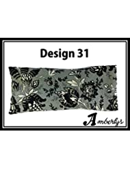 Premium Designer Eye Pillow with Removable Cover and Refillable Inner Pouch ( Migraine, Anxiety & Stress Relief) Excellent for individuals with Insomia. Meditation & Yoga Eye Pillow by AMBERLYS