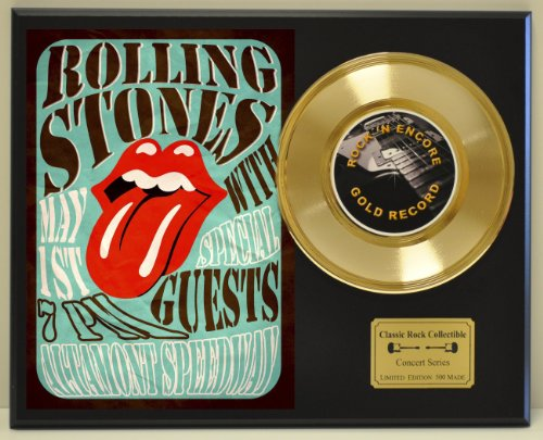 ROLLING STONES Limited Edition Gold 45 Record Display. Only 500 made. Limited quanities. FREE US SHIPPING