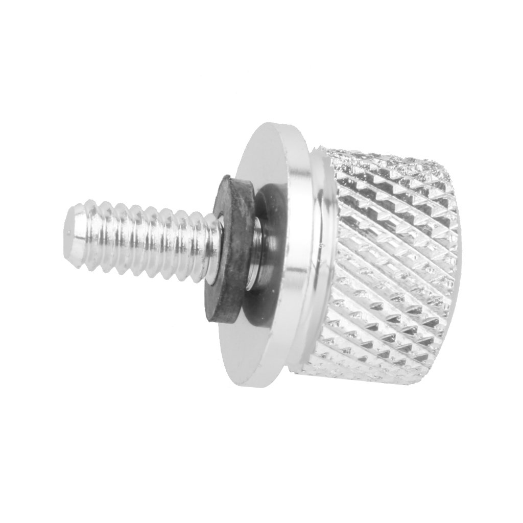 Flameer Motorcycle Seat Mount Bolt Thumb Screw Cap 1//4 inch Thread for Dyna