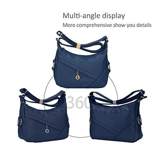 Blue Nicole Pu Shoulder amp; Brown Bag Messenger Handbags Crossbody Shoulder Doris WrPv6W8