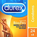 Condoms, Non-Latex, Durex Real Feel Avanti Bare Polyisoprene, 24 Count HSA Eligible