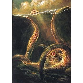 Amazon Com Norse Myths Kraken Sea Monster Art Print